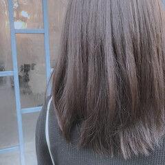 ダークカラー 男ウケ セミロング ショコラブラウン ヘアスタイルや髪型の写真・画像