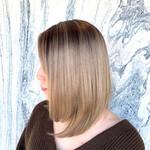 ミディアム 髪質改善カラー デザインカラー モード