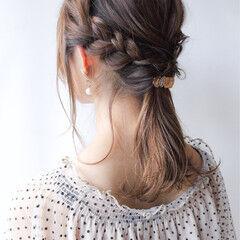 簡単ヘアアレンジ 涼しげ ヘアアレンジ コンサバ ヘアスタイルや髪型の写真・画像