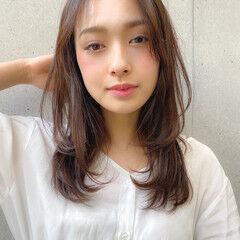 毛先パーマ アンニュイほつれヘア 簡単スタイリング 大人かわいい ヘアスタイルや髪型の写真・画像