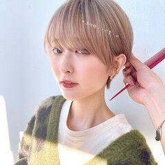 切りっぱなしボブ ショートボブ 髪質改善 ハンサムショート ヘアスタイルや髪型の写真・画像