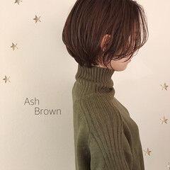 ショートヘア ショートボブ ミディアム ナチュラル ヘアスタイルや髪型の写真・画像