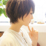 透明感 抜け感 黒髪 コンサバ