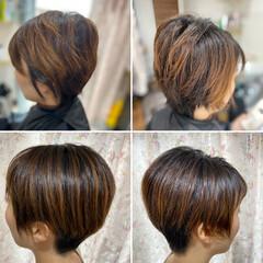 ベリーショート ショートヘア 髪質改善 髪質改善カラー ヘアスタイルや髪型の写真・画像