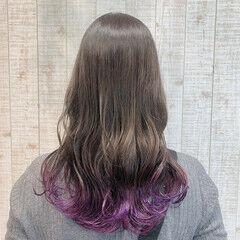 ナチュラル ロング 裾カラー ヘアスタイルや髪型の写真・画像