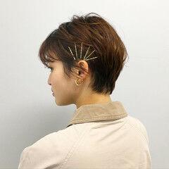 簡単ヘアアレンジ ヘアピン ショートヘアアレンジ ヘアアレンジ ヘアスタイルや髪型の写真・画像