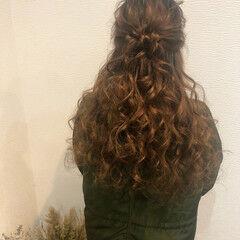 お団子アレンジ ヘアアレンジ ブライダル フェミニン ヘアスタイルや髪型の写真・画像