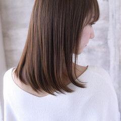 美髪 清楚 ミディアム ナチュラル ヘアスタイルや髪型の写真・画像