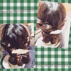 ギブソンタック セミロング ヘアスタイルや髪型の写真・画像