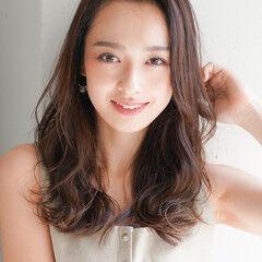 外国人風カラー ロング 似合わせカット レイヤーカット ヘアスタイルや髪型の写真・画像