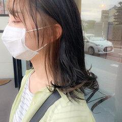 ダブルカラー インナーカラー フェミニン ブリーチカラー ヘアスタイルや髪型の写真・画像