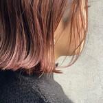 ショートボブ ラベンダーピンク ベリーピンク 濡れ髪スタイル