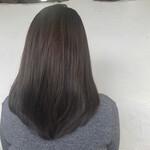 コンサバ ダークトーン セミロング 髪質改善トリートメント
