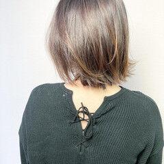 外ハネ ツヤ髪 ミディアム ナチュラル ヘアスタイルや髪型の写真・画像