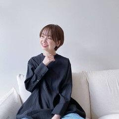 丸みショート 撮影依頼募集中 サロンモデル ショート ヘアスタイルや髪型の写真・画像