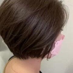 ショートボブ 大人ショート 大人ヘアスタイル ナチュラル ヘアスタイルや髪型の写真・画像