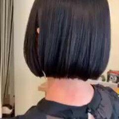 ミニボブ グラデーションカラー ゆるふわ 秋 ヘアスタイルや髪型の写真・画像