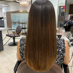 髪質改善 トリートメント ヘアケア ロング ヘアスタイルや髪型の写真・画像
