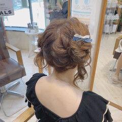 ガーリー ふわふわヘアアレンジ ライブ ヘアアレンジ ヘアスタイルや髪型の写真・画像