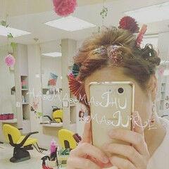 夜会巻 和装 和服 ヘアアレンジ ヘアスタイルや髪型の写真・画像