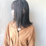 暗髪 ナチュラル ツヤ髪 透明感