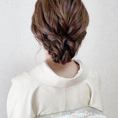 結婚式 訪問着 和装ヘア エレガント ヘアスタイルや髪型の写真・画像