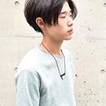 メンズ ストリート ショート 黒髪