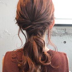 簡単ヘアアレンジ ヘアセット ゆるふわセット エレガント ヘアスタイルや髪型の写真・画像