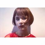 ショートバング 前髪 フェミニン 3Dハイライト