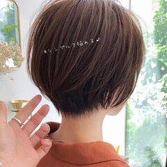髪質改善 ミニボブ ショート ハンサムショート ヘアスタイルや髪型の写真・画像