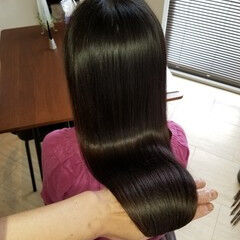 髪の病院 縮毛矯正 トリートメント ナチュラル ヘアスタイルや髪型の写真・画像