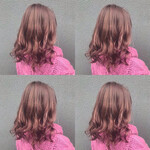 透明感 ヘアカラー 透明感カラー ピンク
