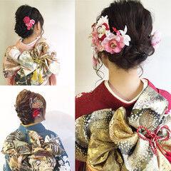 成人式 ロング フェミニン ヘアアレンジ ヘアスタイルや髪型の写真・画像