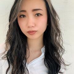 阿藤俊也 ロング エレガント うぶ毛ハイライト ヘアスタイルや髪型の写真・画像