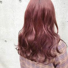 ロング コリアンピンク ストリート ブリーチ ヘアスタイルや髪型の写真・画像