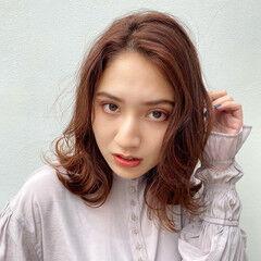 秋冬スタイル 暖色 極細ハイライト ハイライト ヘアスタイルや髪型の写真・画像
