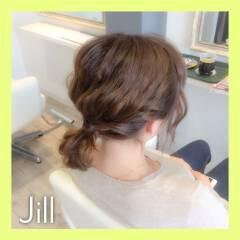 ポニーテール ボブ ヘアアレンジ 簡単ヘアアレンジ ヘアスタイルや髪型の写真・画像