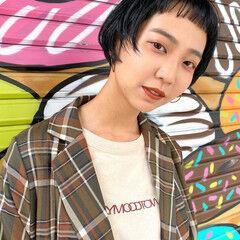 ショート ストリート モテボブ ミニボブ ヘアスタイルや髪型の写真・画像