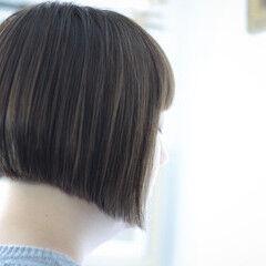 オリーブベージュ ボブ オリーブグレージュ オリーブアッシュ ヘアスタイルや髪型の写真・画像