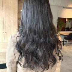 韓国ヘア ココアブラウン ロング ナチュラル ヘアスタイルや髪型の写真・画像