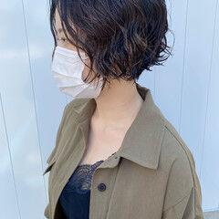 ショート ハンサムショート ショートボブ ストリート ヘアスタイルや髪型の写真・画像