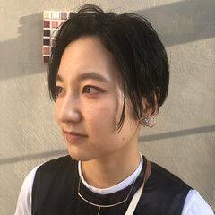 暗髪 モード バーム 黒髪 ヘアスタイルや髪型の写真・画像