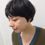 福岡市 大人女子 黒髪ショート 大人カジュアル