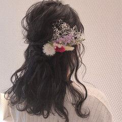 ヘアアレンジ ヘアセット フェミニン 結婚式ヘアアレンジ ヘアスタイルや髪型の写真・画像