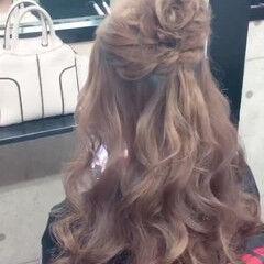 結婚式 フェミニン ヘアアレンジ 卒業式 ヘアスタイルや髪型の写真・画像