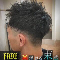 メンズ 束感 刈り上げ ツーブロック ヘアスタイルや髪型の写真・画像