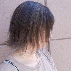 グラデーションカラー 学生 ボブ ストリート ヘアスタイルや髪型の写真・画像