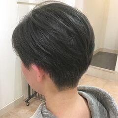 刈り上げ 着物 ショートボブ オフィス ヘアスタイルや髪型の写真・画像