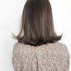 セミロング オフィス ナチュラル 簡単ヘアアレンジ ヘアスタイルや髪型の写真・画像