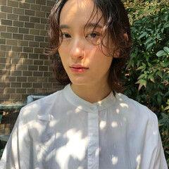 透明感カラー ハイライト ナチュラル 大人ハイライト ヘアスタイルや髪型の写真・画像